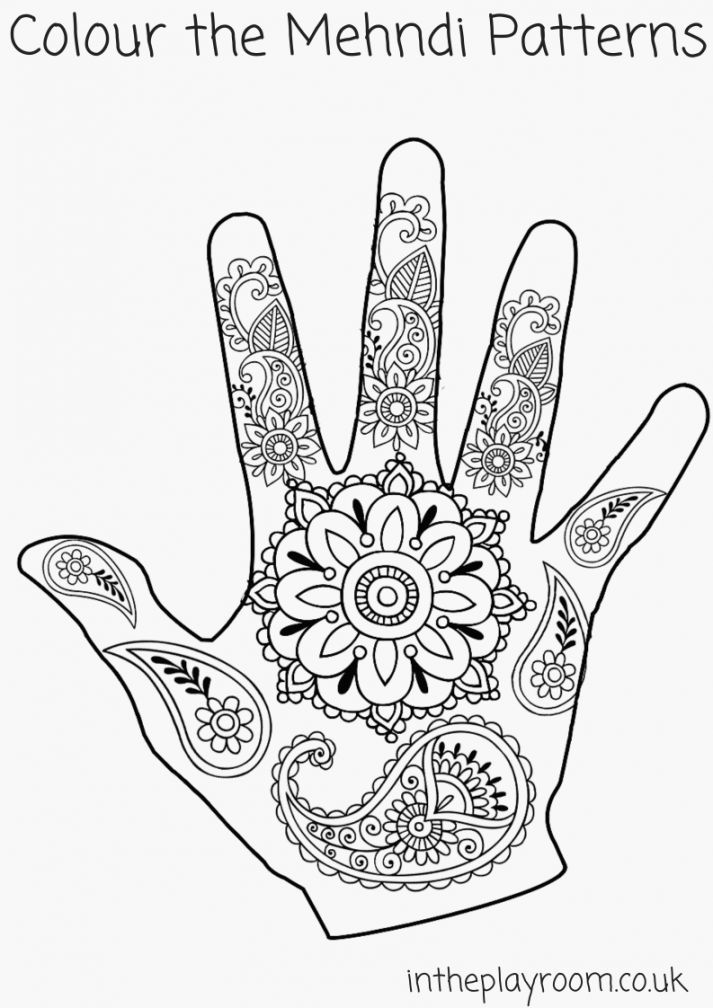 Coloring Pages Hands Activiteiten Divali Thema