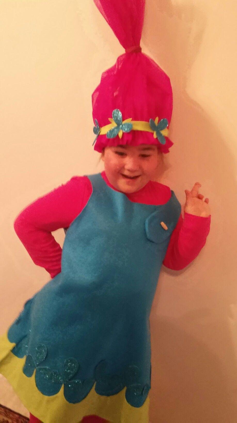poppy trolls costume homemade carnevale pinterest. Black Bedroom Furniture Sets. Home Design Ideas