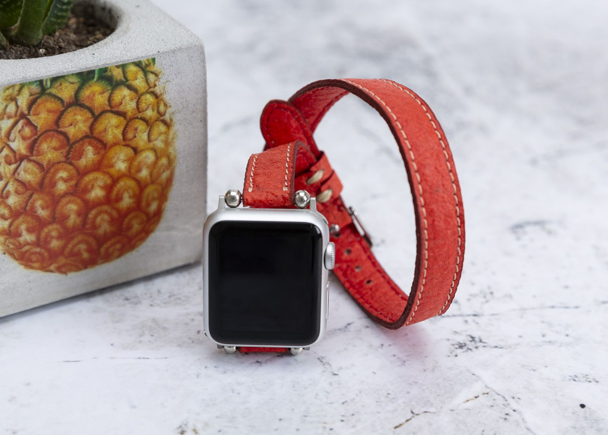 Slim Red Pineapple Leaf Watch Band Compatible with Apple | Etsy | Apple watch bands, Apple watch, Apple watch case