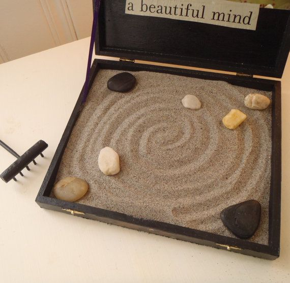 Orchid Miniature Zen Garden Table Top Box By ZeNNina On Etsy More