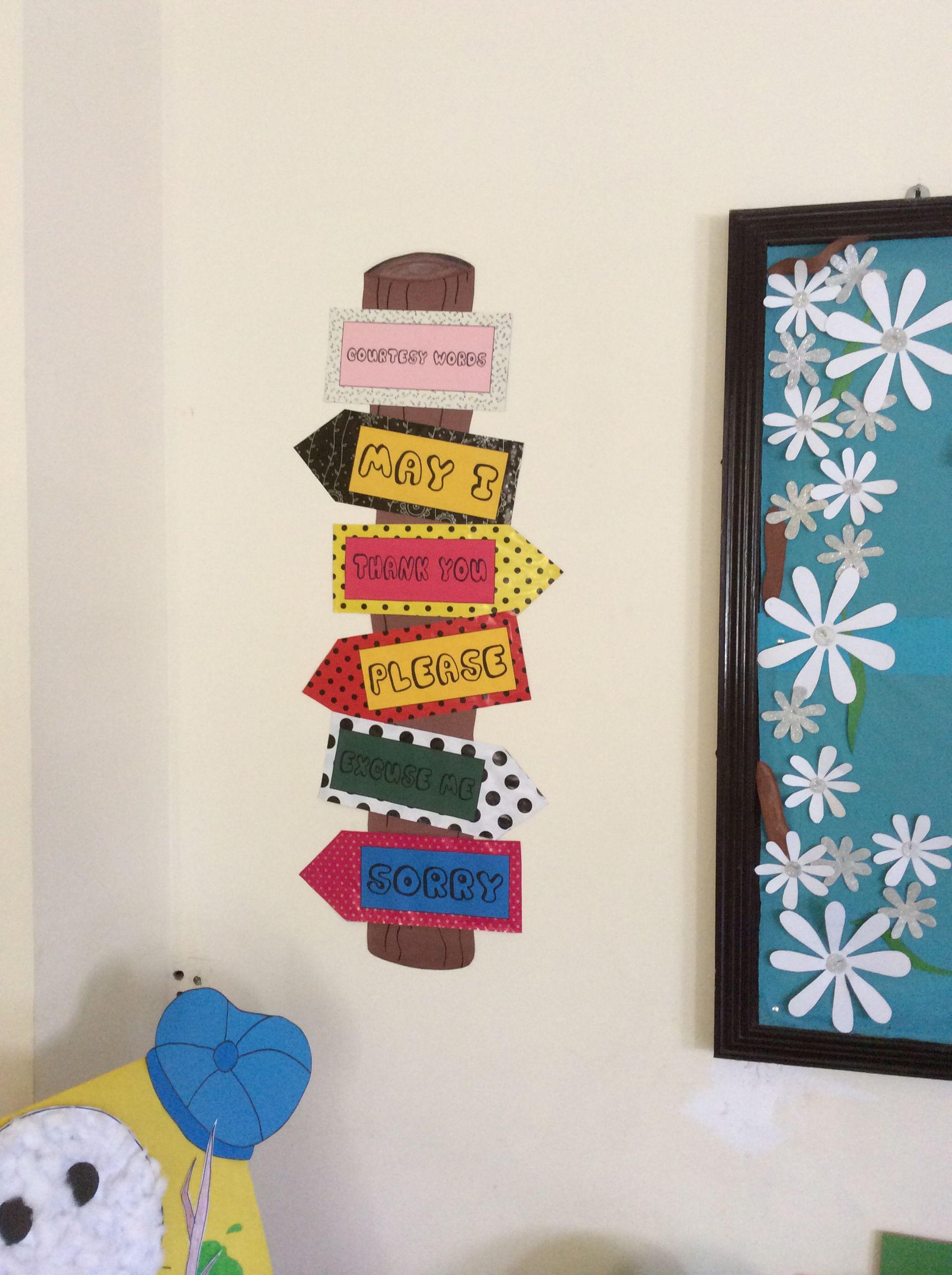 Courtesy Words Kindergarten Classroom Decor Classroom Displays