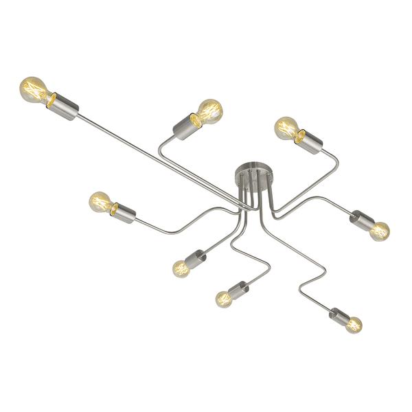 Plafon 8 Lampadas Prata Armes Auremar Leroy Merlin Electronic Products Earbuds Headphones