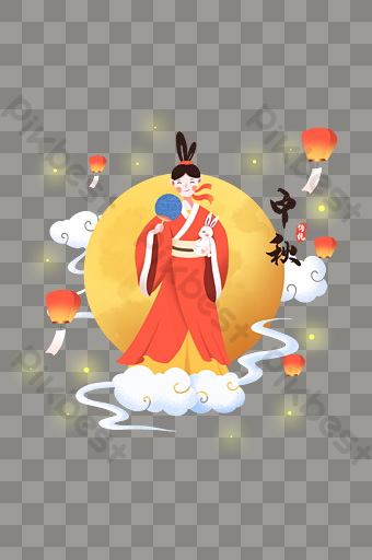 Chang E Holding A Jade Rabbit Fan In The Mid Autumn Festival Png Images Psd Free Download Pikbest Mid Autumn Festival Fall Festival Mid Autumn