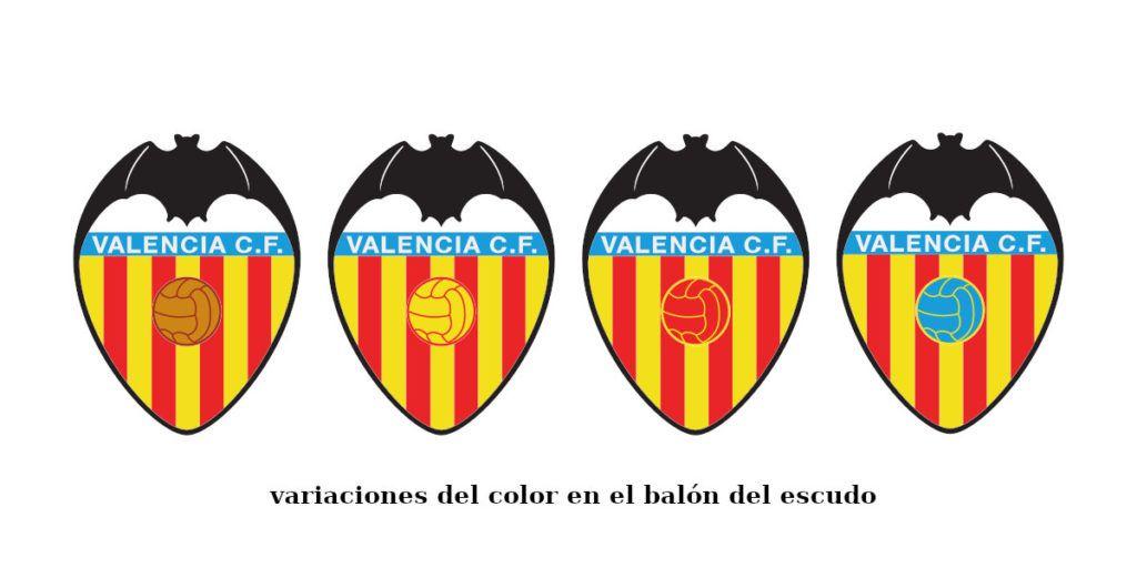 Cambios En El Color Del Balón Del Escudo Del Valencia Cf Logotipos De Futbol Valencia C F Valencia