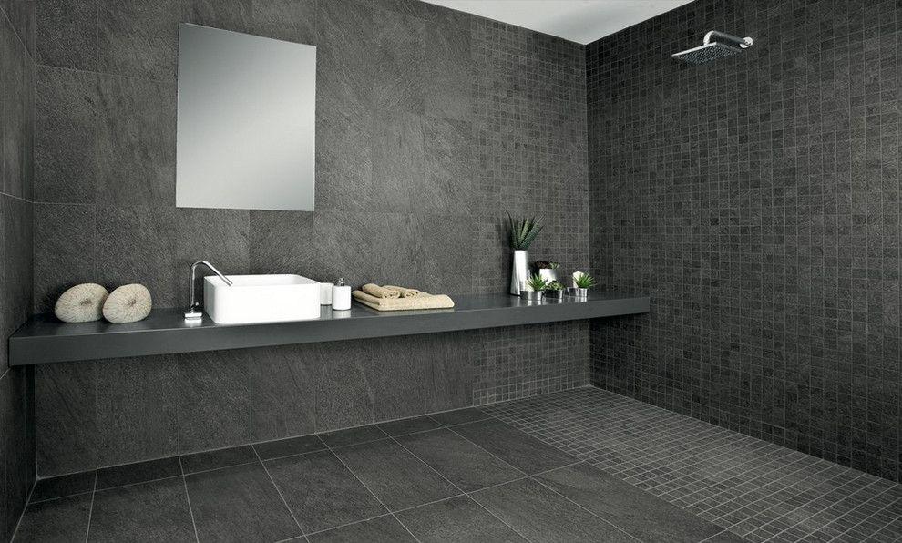 Pastorelli Example Of A Minimalist Master Walk In Shower Design In New York With Black Tile Ceramic Tile Blac Wet Rooms Bathroom Tile Designs Amazing Bathrooms New top ceramic bathroom floor