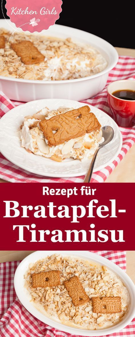 Leckeres Bratapfel-Tiramisu