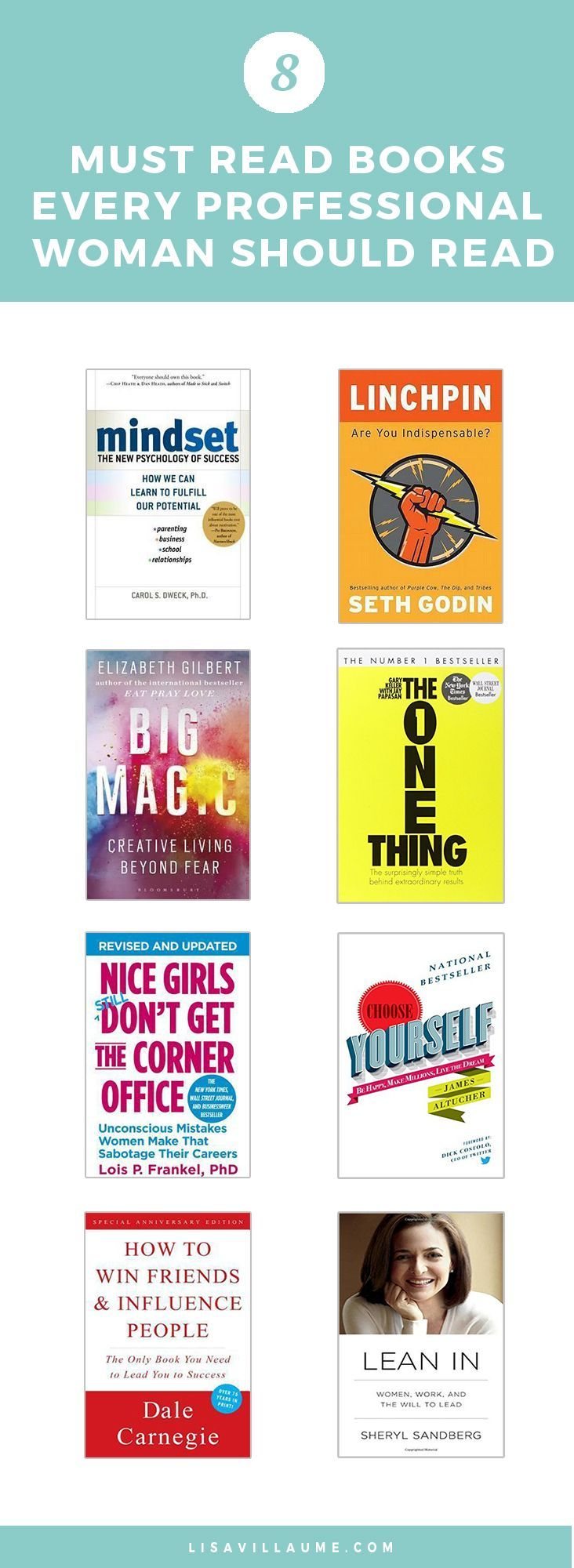 Here are the books that have changed my life. Add these 8 must-read books every professional woman should read to your list now!