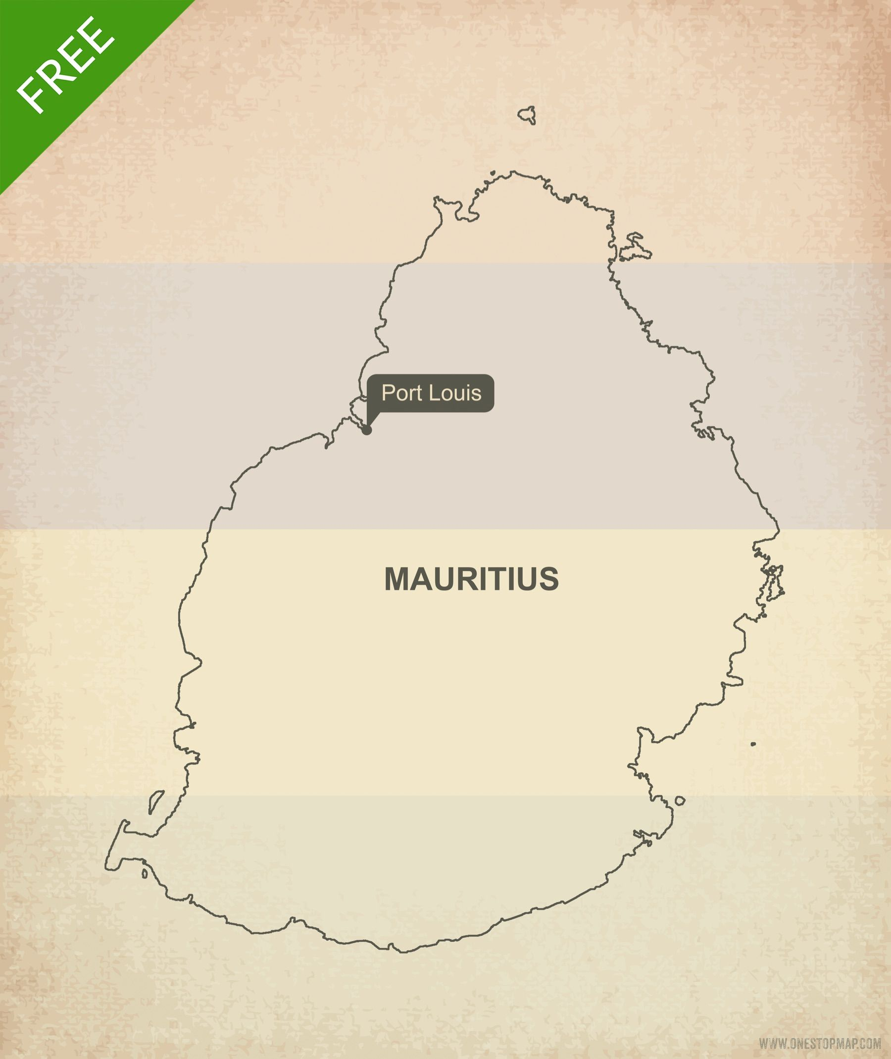 Free Vector Map of Mauritius Outline | Mauritius | Map vector, Map ...