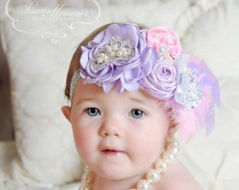 Arcos y turquesa bebé niña diadema recién por OohLaLaDivasandDudes