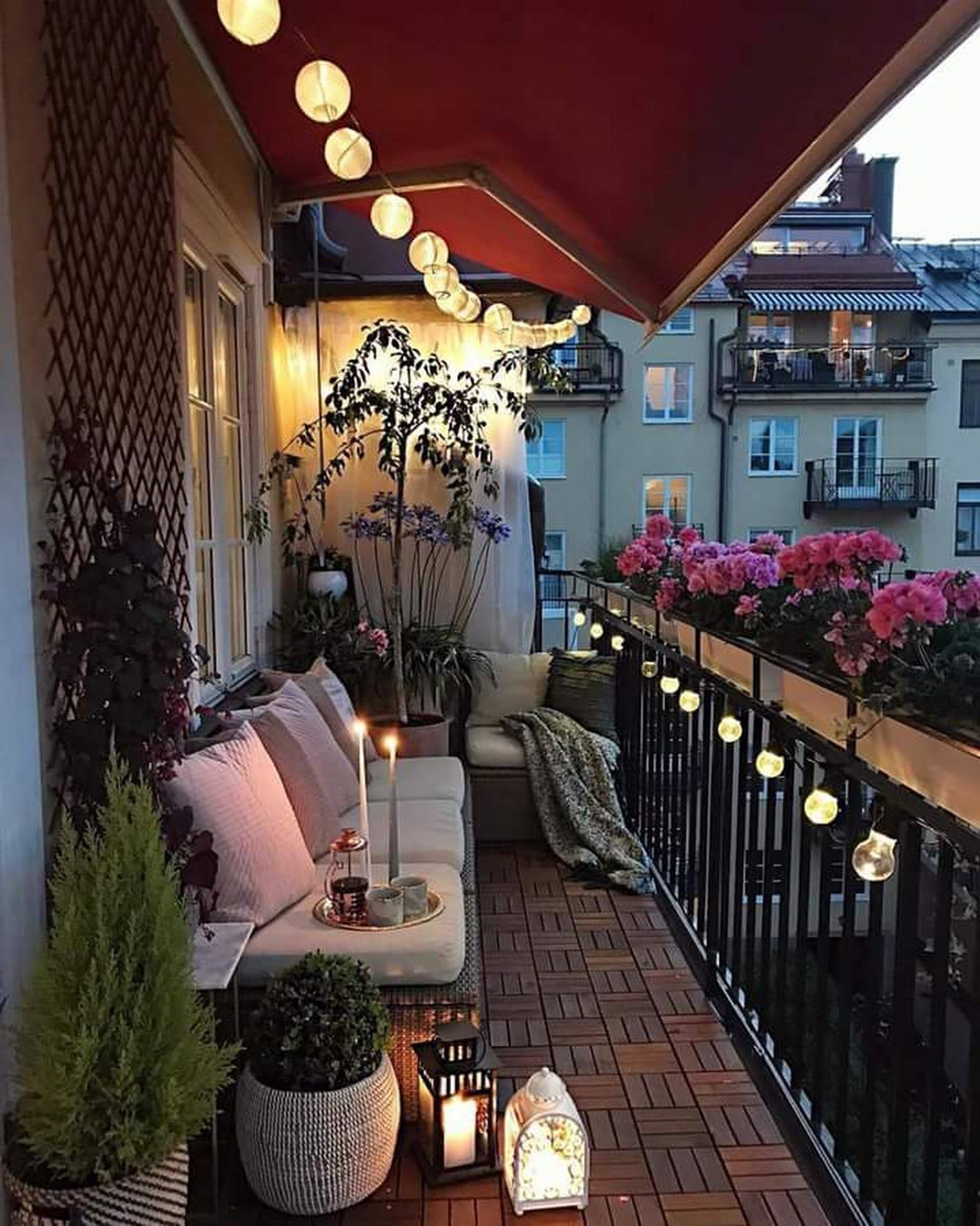 the best decorated small outdoor balconies on pinterest small balcony decor balcony design on christmas balcony decorations apartment patio id=23108