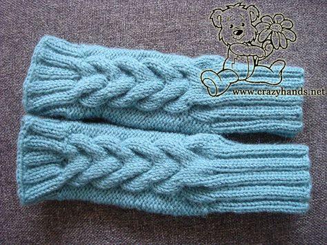 Fingerless Gloves Knitting Pattern With Explained Knitting