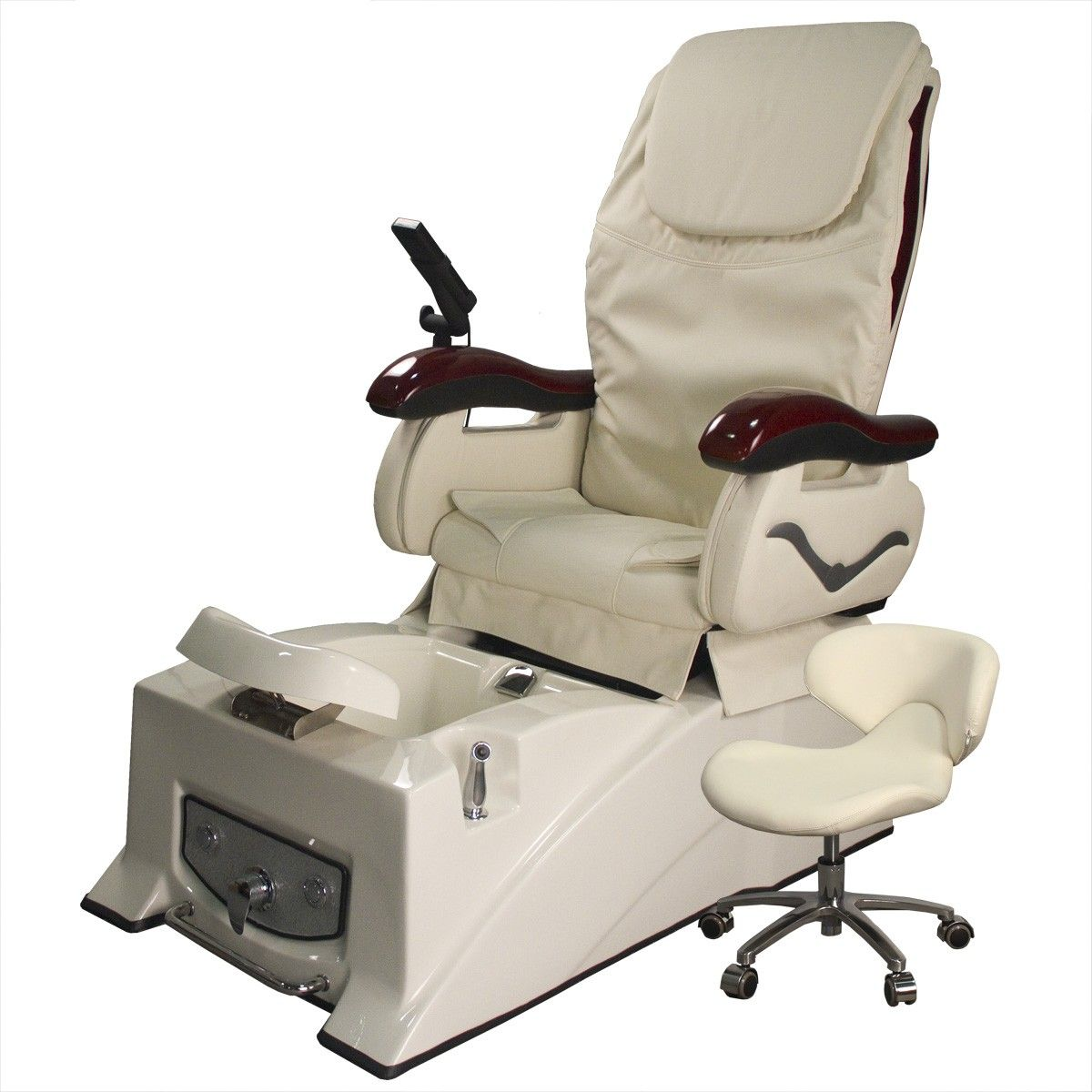 Madison II Pedicure Chair in Ivory CLEARANCE Salon