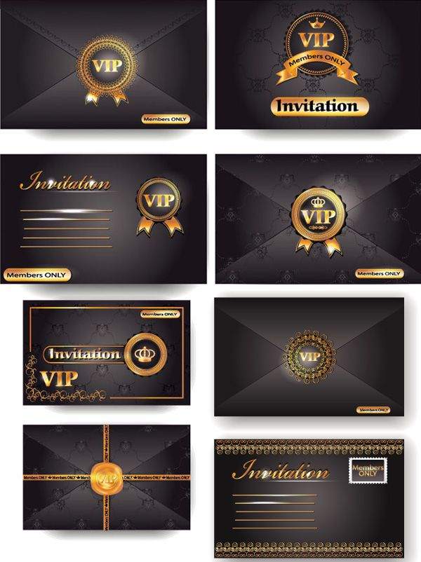 Vip Card Envelopes Vip Premier Card Design Envelope Template Vector Material Vip Premium Card Envelope Templ Vip Card Advertising Design Envelope Template