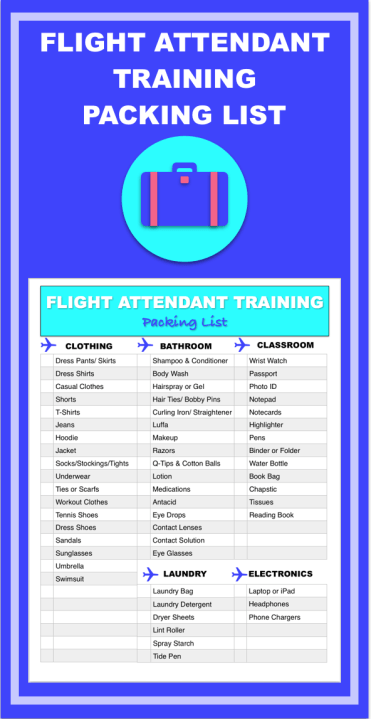 Prepare For Flight Attendant Training With This Printable HowTo