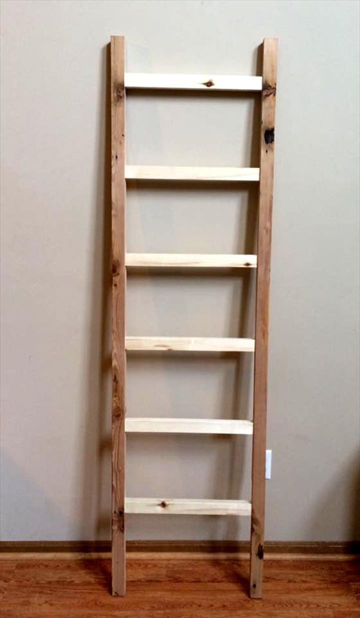Pallet Blanket Ladder Shelf | 99 Pallets