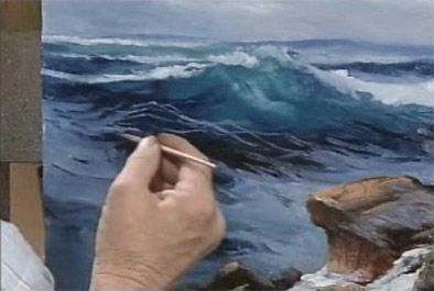 Seascape Oil Painting Lessons - Seascape Oil Painting Lessons on DVD.