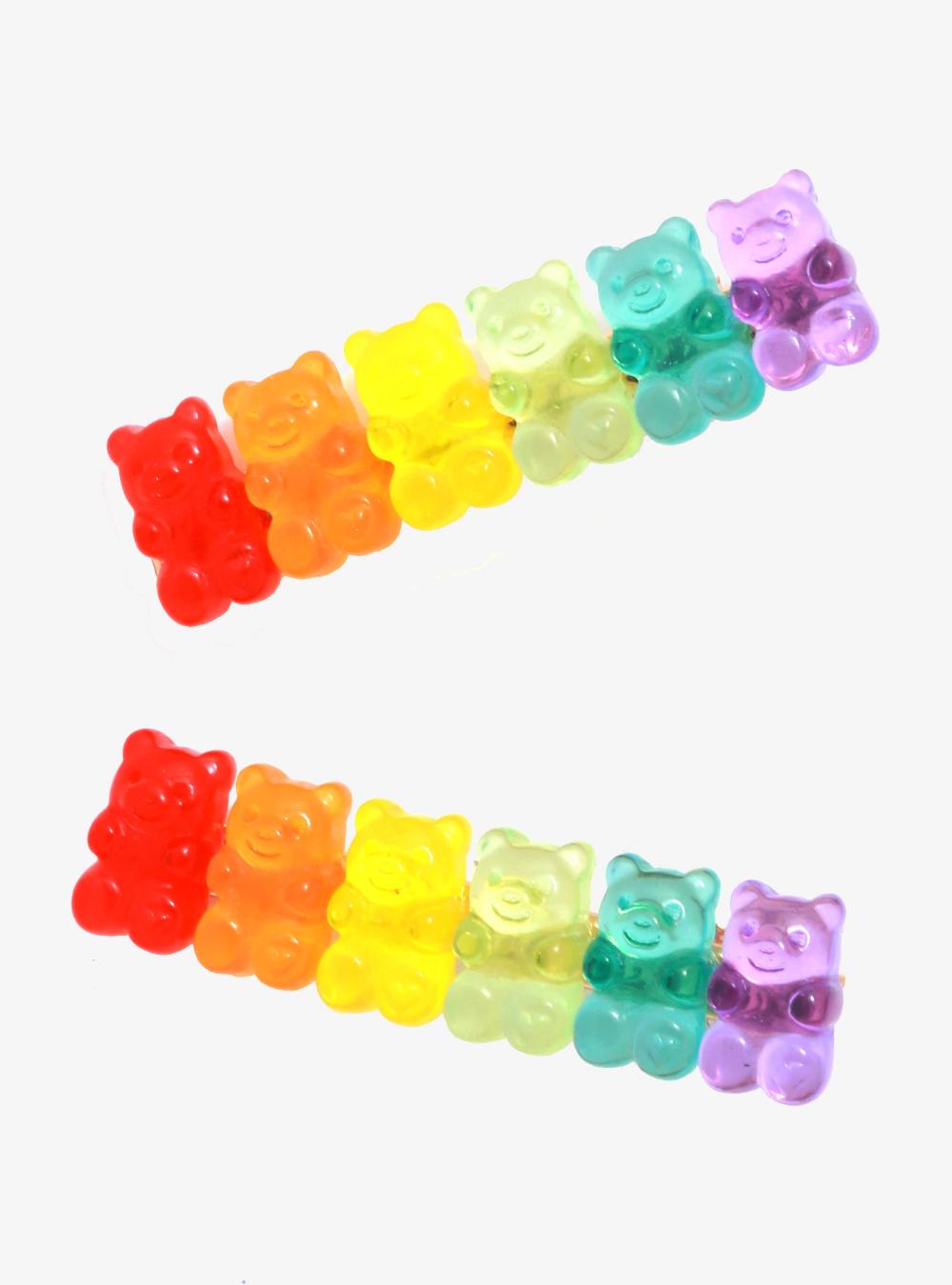 Rainbow Candy Bear Hair Clip Set In 2020 Rainbow Candy Kawaii Accessories Hair Clips
