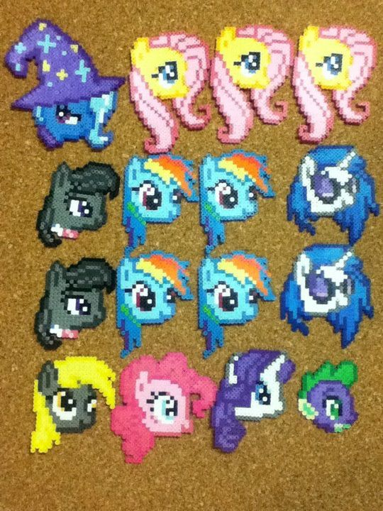 Perler My Little Pony Heads D By Otakuluka On Deviantart Geek