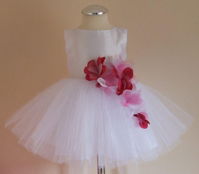 Sukienka Opaska Kwiaty 3d Tiul Chrzest R 80 Tulle Tulle Skirt Fashion