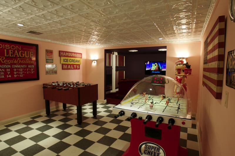Awesome Long Narrow Basement Game Room Family Retro Games Room Game Room Design