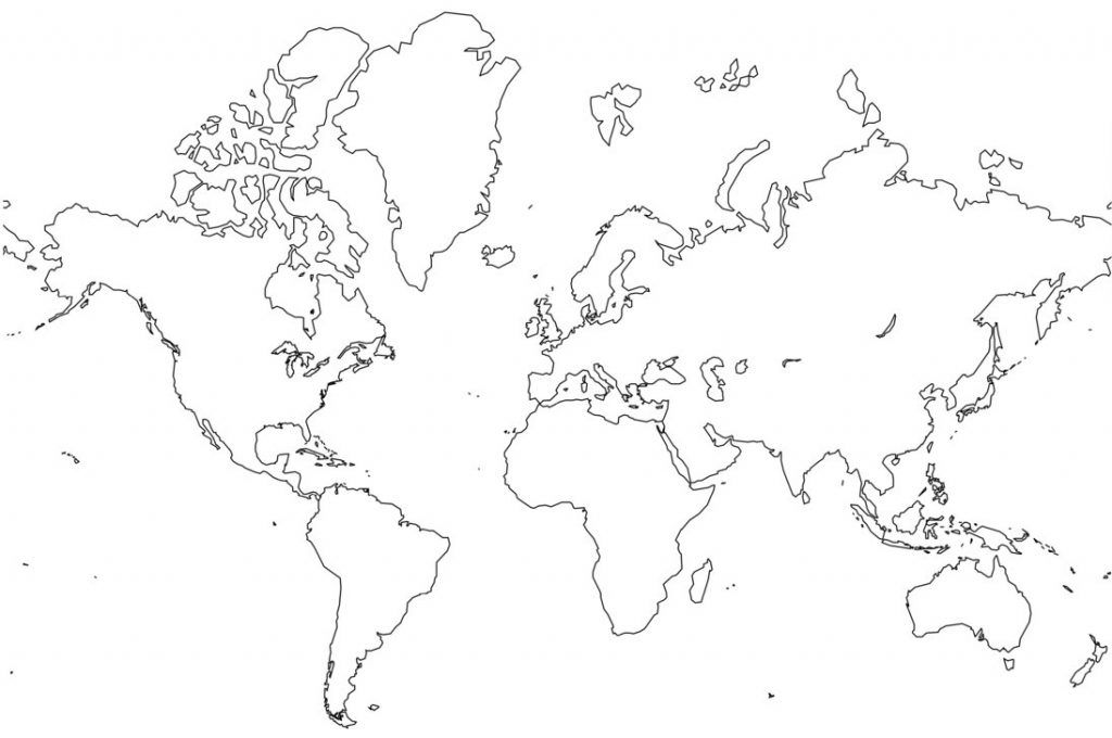 Free Printable World Map Coloring Pages For Kids - Best Coloring Pages For  Kids World Map Outline, World Map Coloring Page, Blank World Map