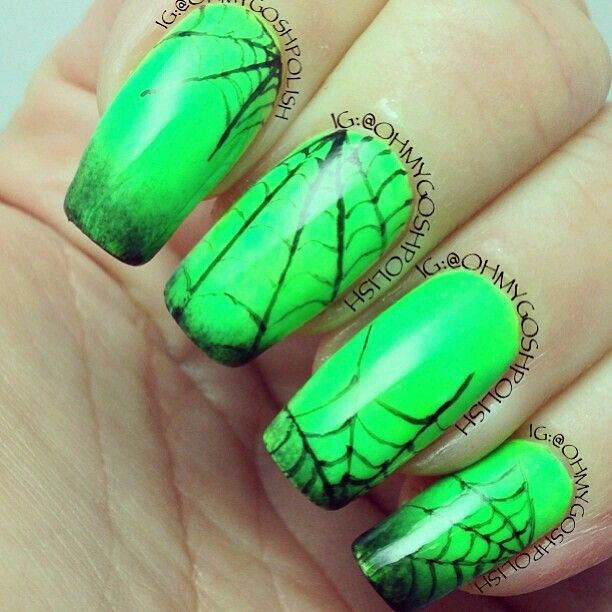 Pin by Jennifer A on Pretty nails | Nails, Neon green ...