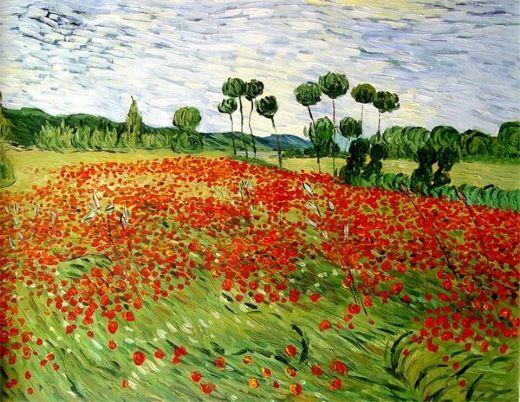 Field Of Poppies 18987 Van Gogh Paintings Vincent Van Gogh Paintings Artist Van Gogh