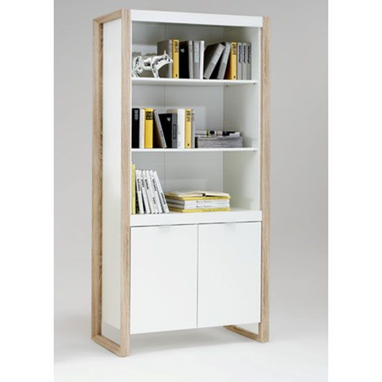 Great Frame3 Pear White Display Cabinet In Oak Finish Legs   Home U0026 Office  Cabinets, Furnitureinfashion