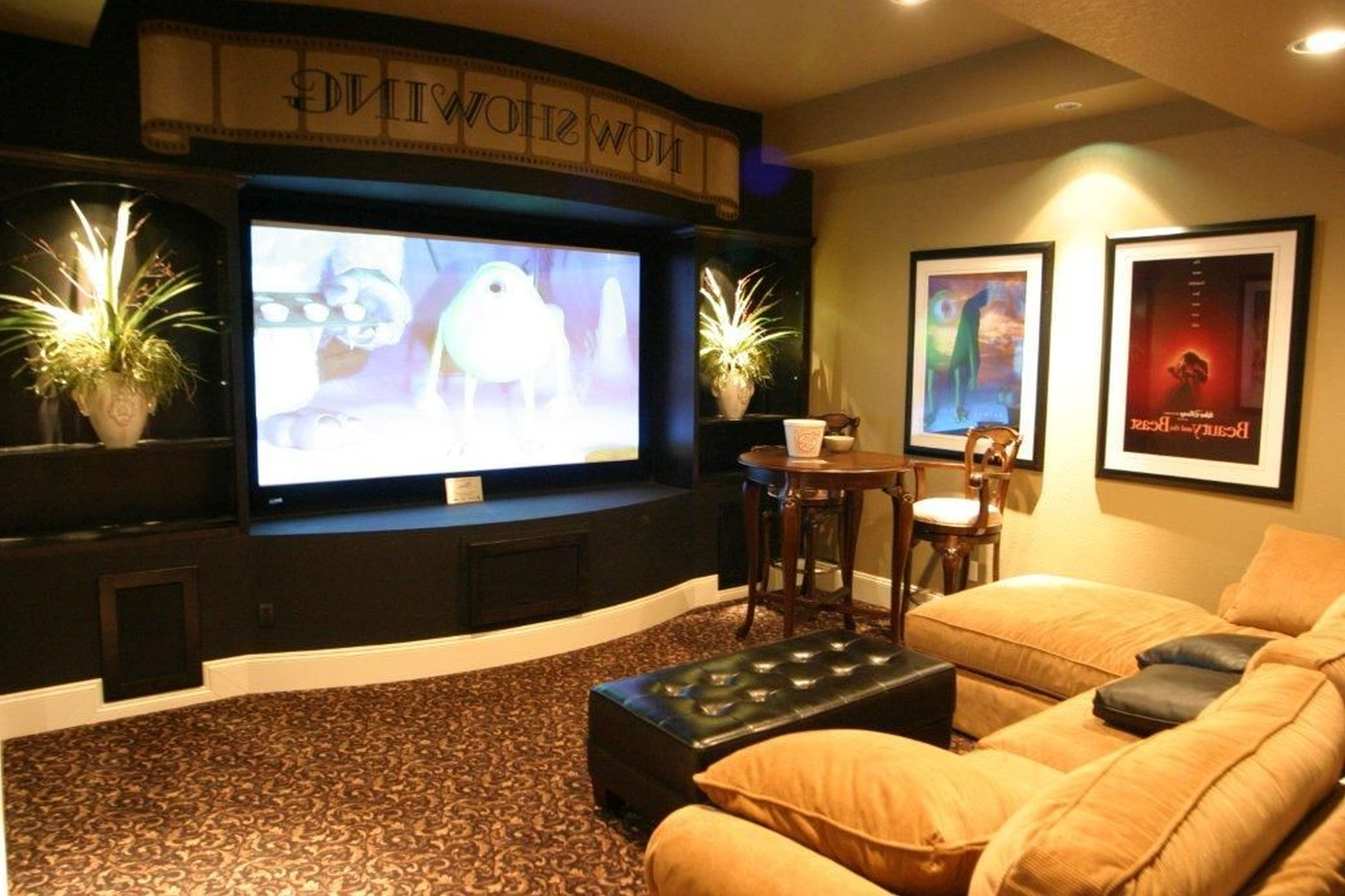Media room using basement decorating ideas basement ideas Ikea media room ideas