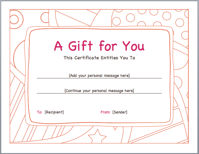 Gift Certificate Templates  Just Another Wordpress Site  Water