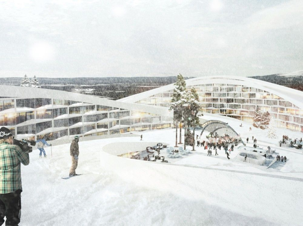 Ski Resort, BIG Bjarke Ingels Architects, Levi, Finland