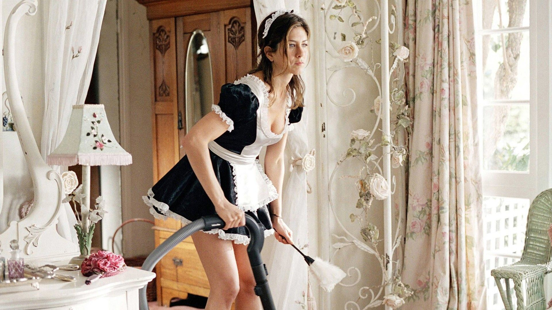 People 1920x1080 Jennifer Aniston Maid Outfit French Maid Bedroom