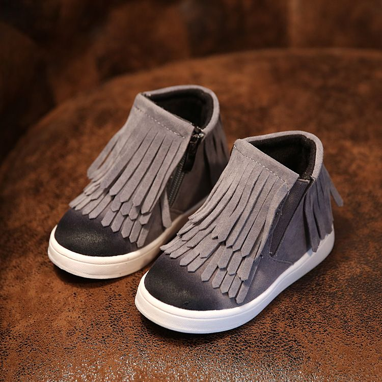 Click To Buy Autumn Winter Kids Boots Baby Girls Shoes Zip Tassel Cotton Lined Rubber Children Ma Girls Fringe Boots Girls Boots Kids Sport Shoes Fashion