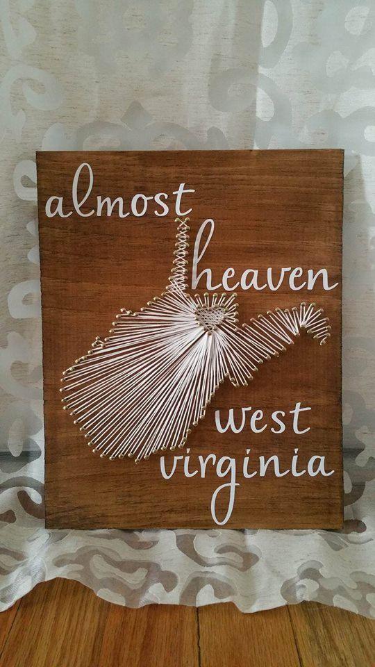 Almost Heaven West Virginia Rustic West Virginia Wall Plaques