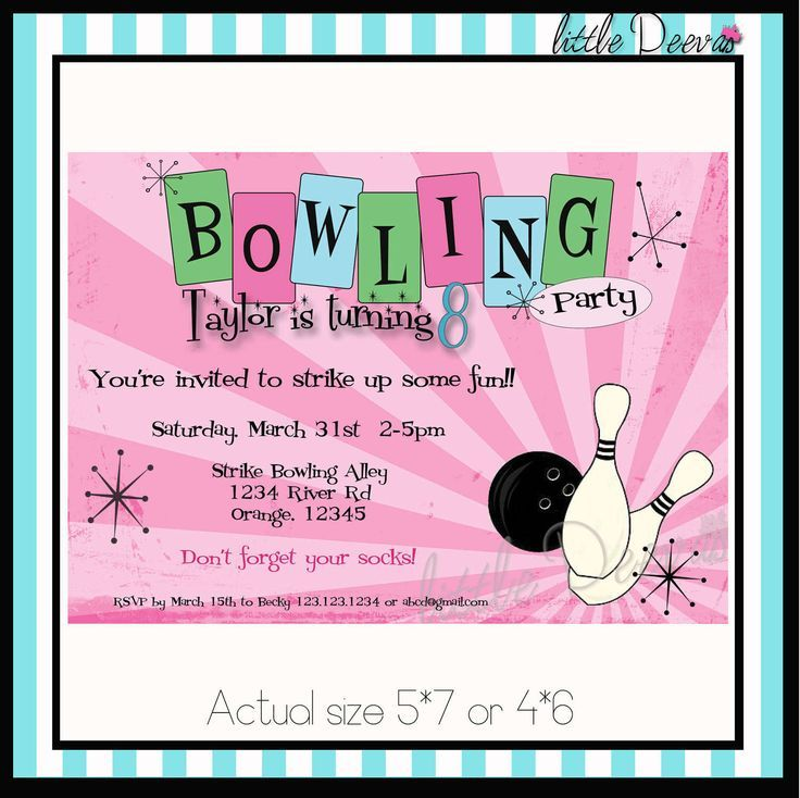 bowling-party-invitations-template-free Allyson\u0027s folder