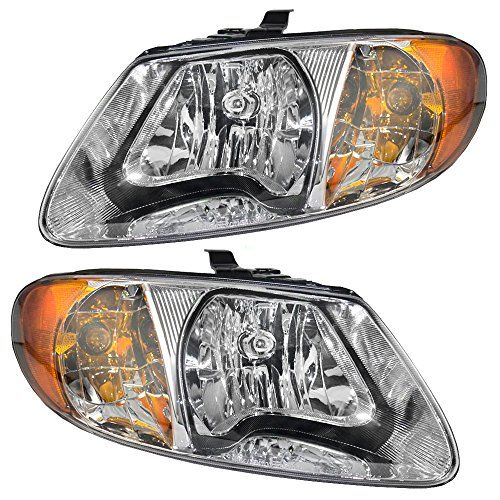 Driver And Passenger Headlights Headlamps Replacement For Dodge