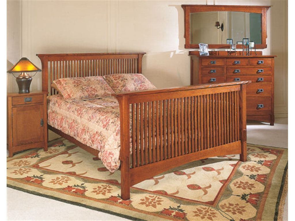 Arts And Crafts Bedroom Queen Bed Complete 9110 Turner Furniture Company Avon Park Fl