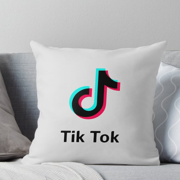 66f0fe349385 tik tok Throw Pillow | Products in 2019 | Tik tok, Bts backpack, Pillows