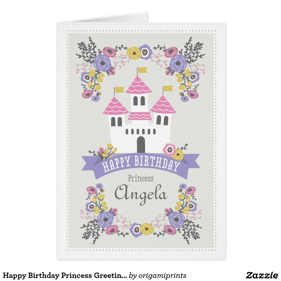 Happy Birthday Princess Greeting Card Princesses Happy Birthday