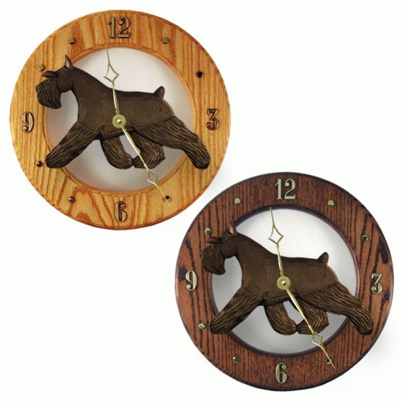 Schnauzer Wood Clock Black Pembroke Welsh Corgi Wood Wall Clock Clock