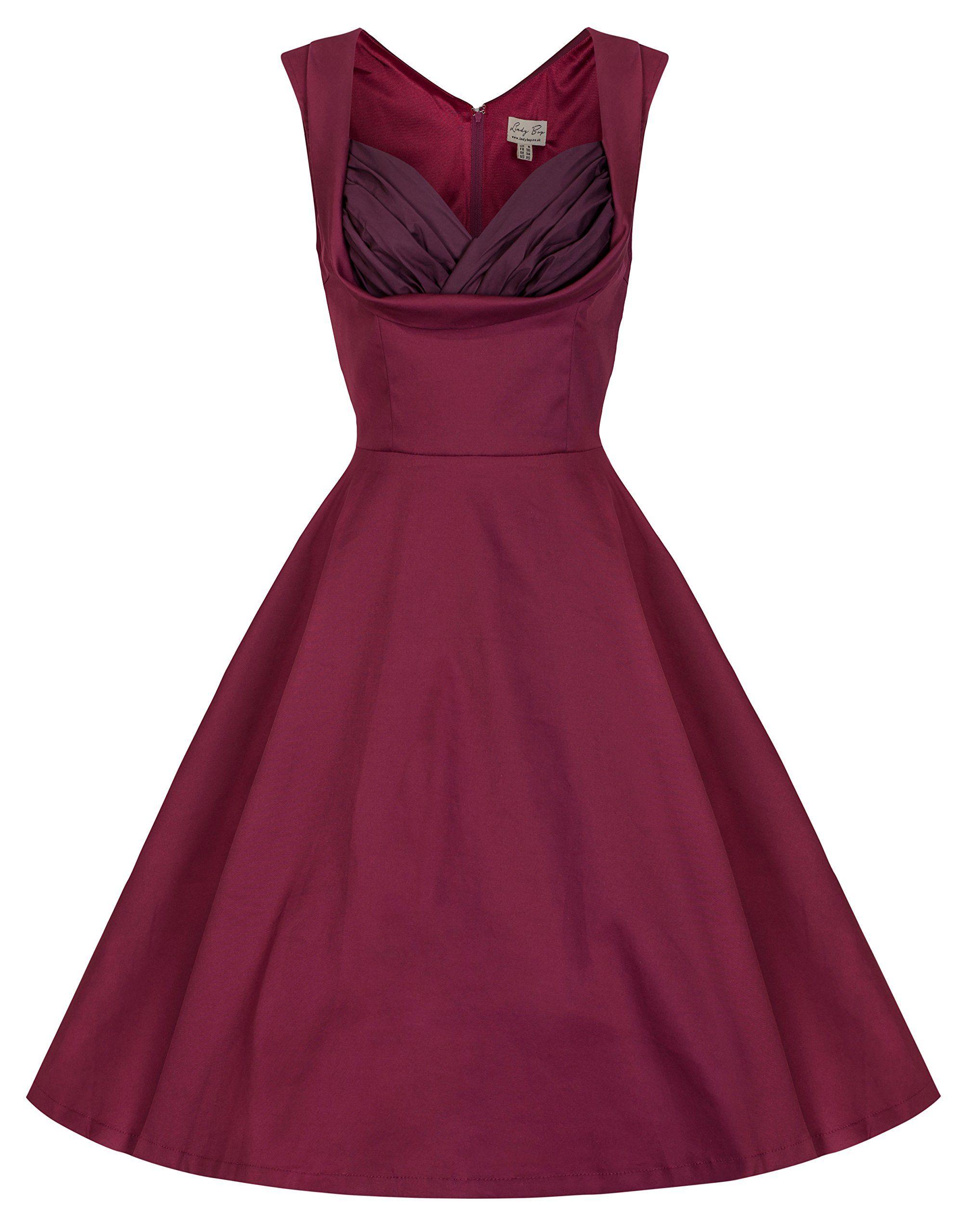 7bab2e5aceeb Lindy Bop  Ophelia  Vintage 1950 s Prom Swing Dress at Amazon Women s  Clothing store