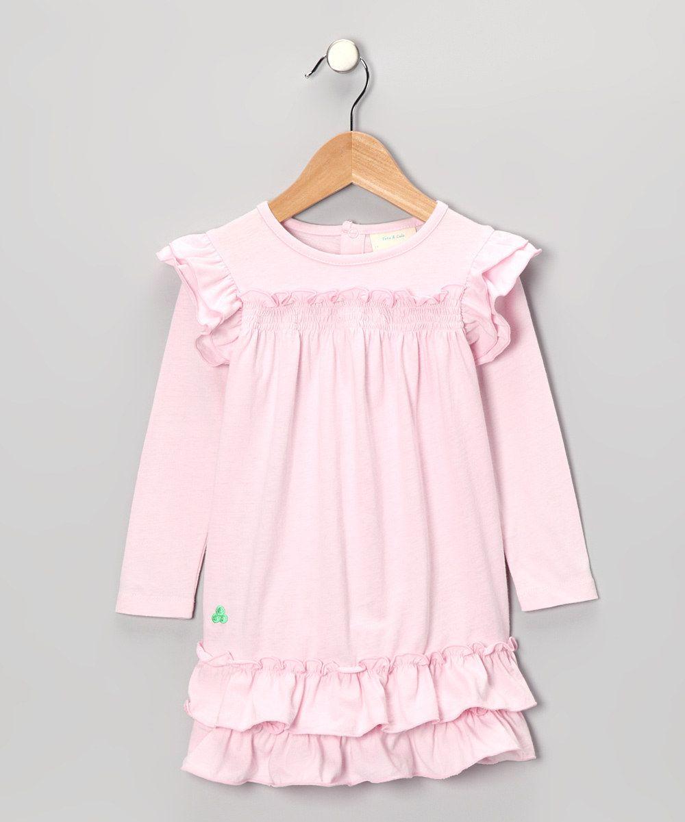 Pink Ruffle Jersey Organic Dress - Toddler