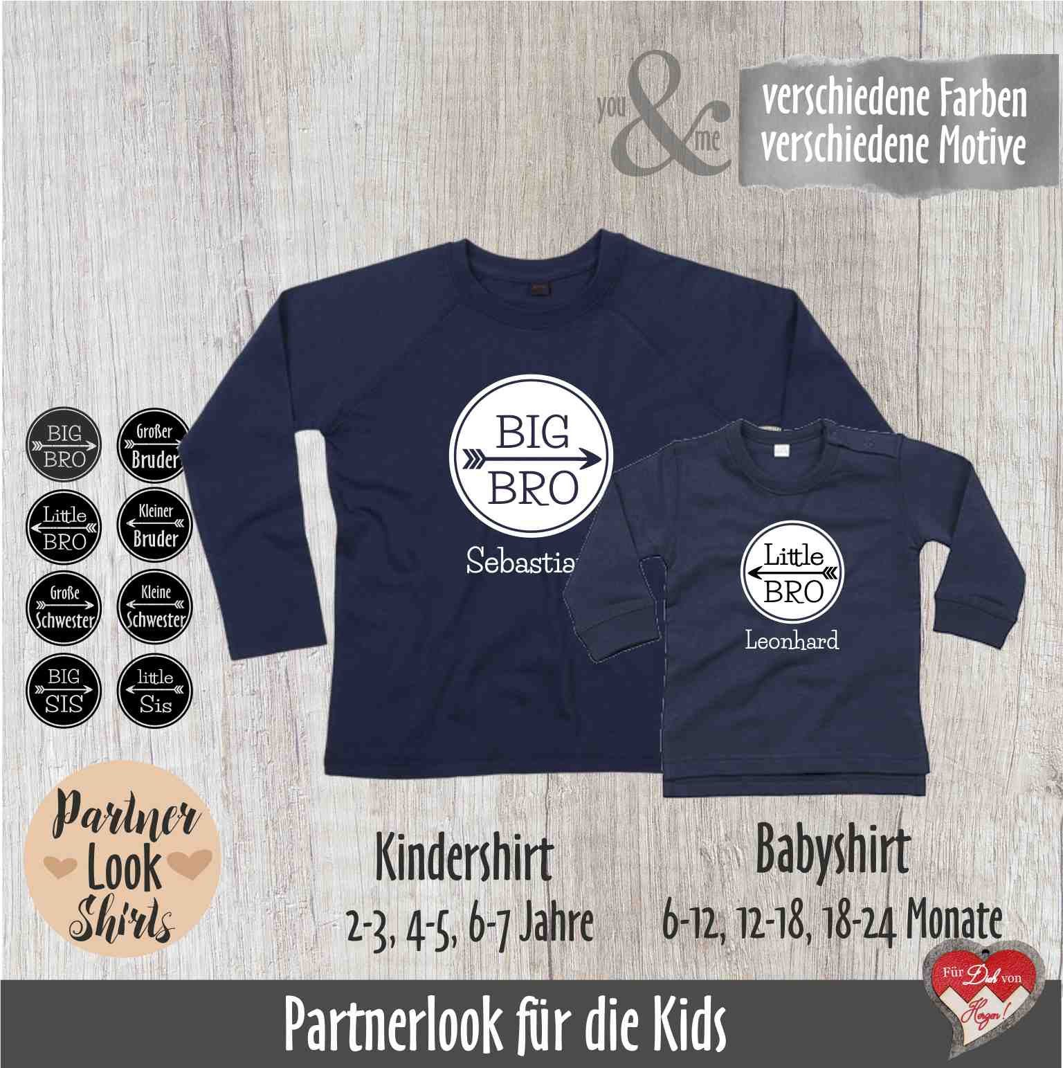 Long sleeve partner lookshirts siblings, Big Brother ...