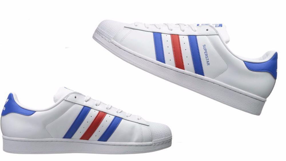 buy online d8185 df8b9 Men's Adidas Originals SUPERSTAR retro (White / Blue / Red ...