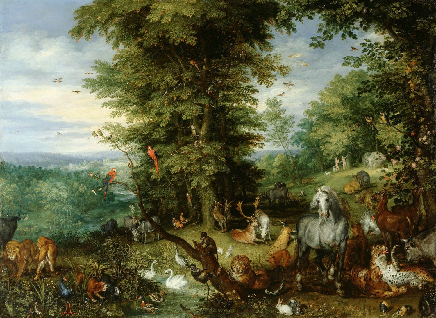 The Royal Collection: Adam and Eve in the Garden of Eden