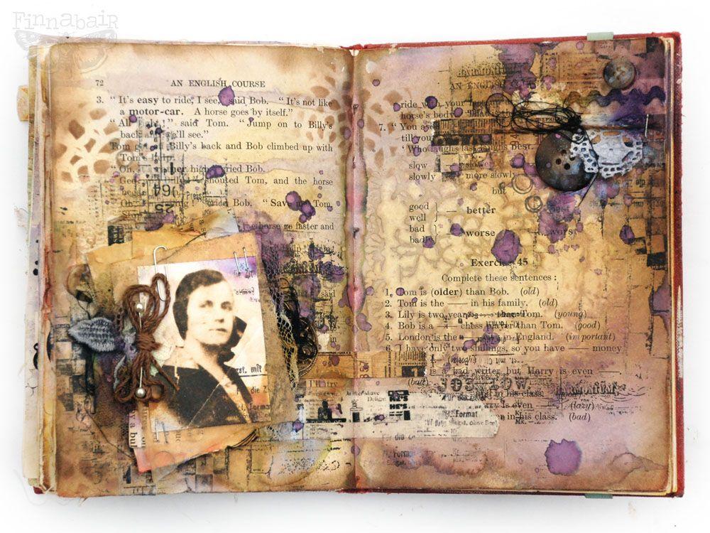 Finnabair Faithful To Vintage Art Journal Cover Art Journal Pages Vintage Journal