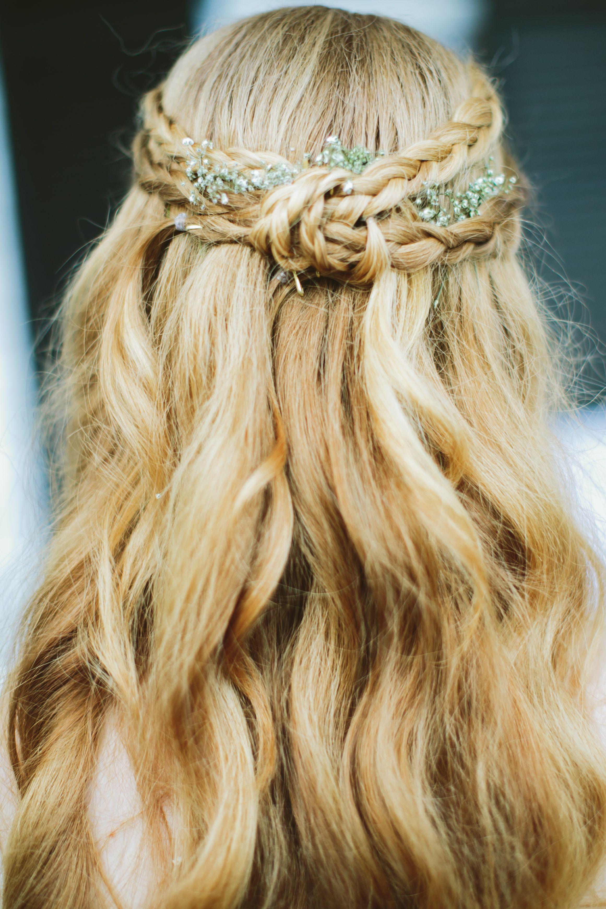 my wedding hair, styled by elizabeth littell. we kept it simple