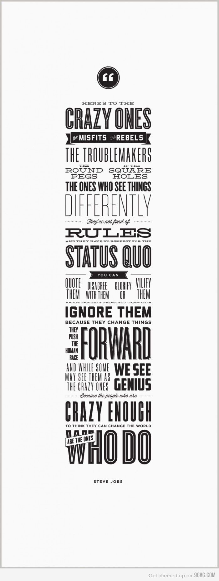 Here's To The Crazy Ones Steve jobs quotes, Job quotes