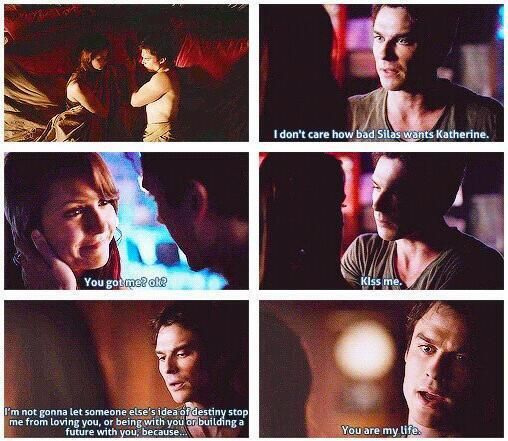 Damon and what's her name. :)