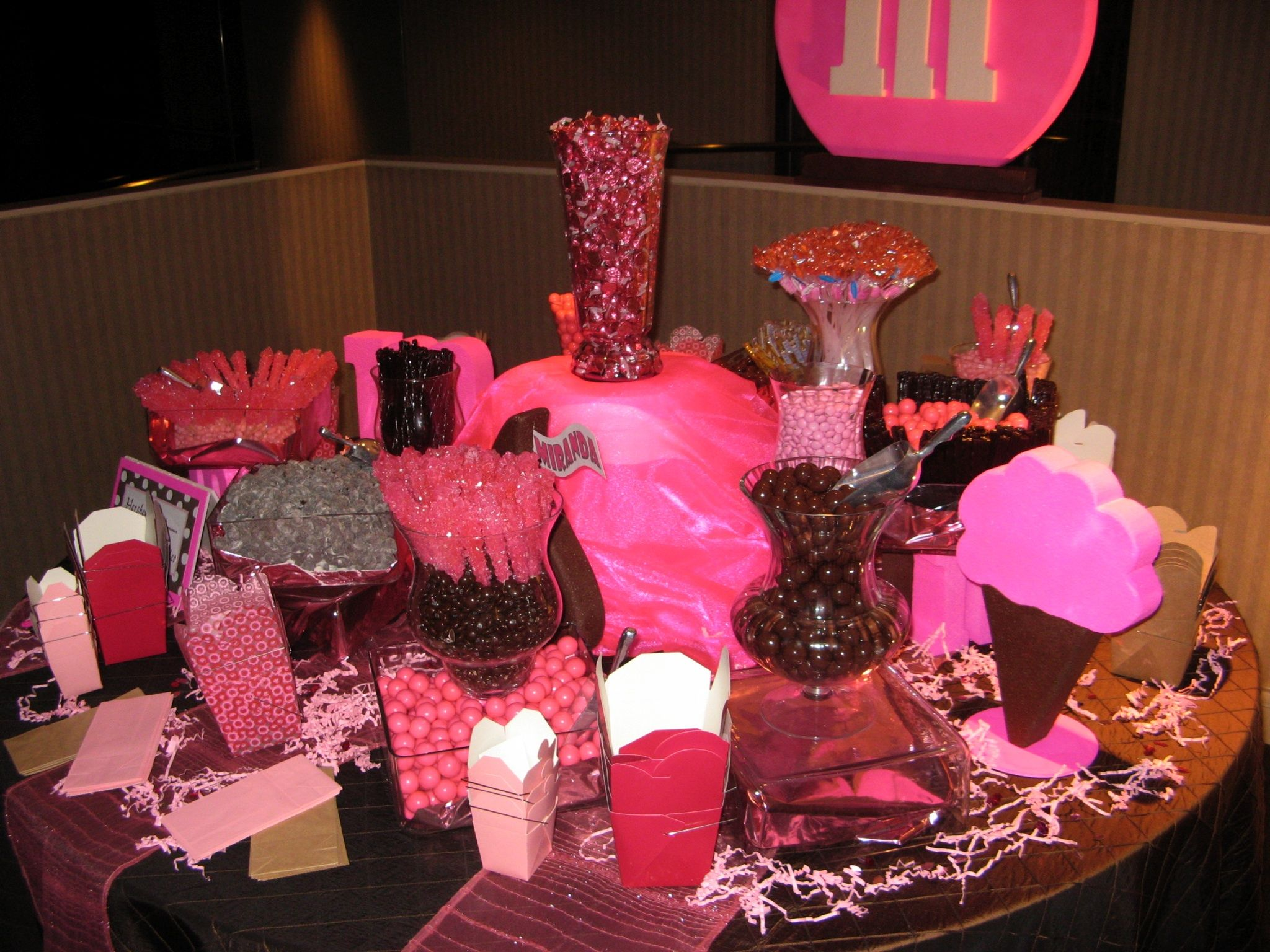 Paris decorations for quinceaneras - Quinceanera Candy Bar By Ideal Party Decorators Www Idealpartydecorators Com